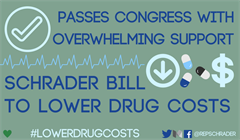 Schrader Bill to Lower Drug Costs Moves Forward with Unanimous Support
